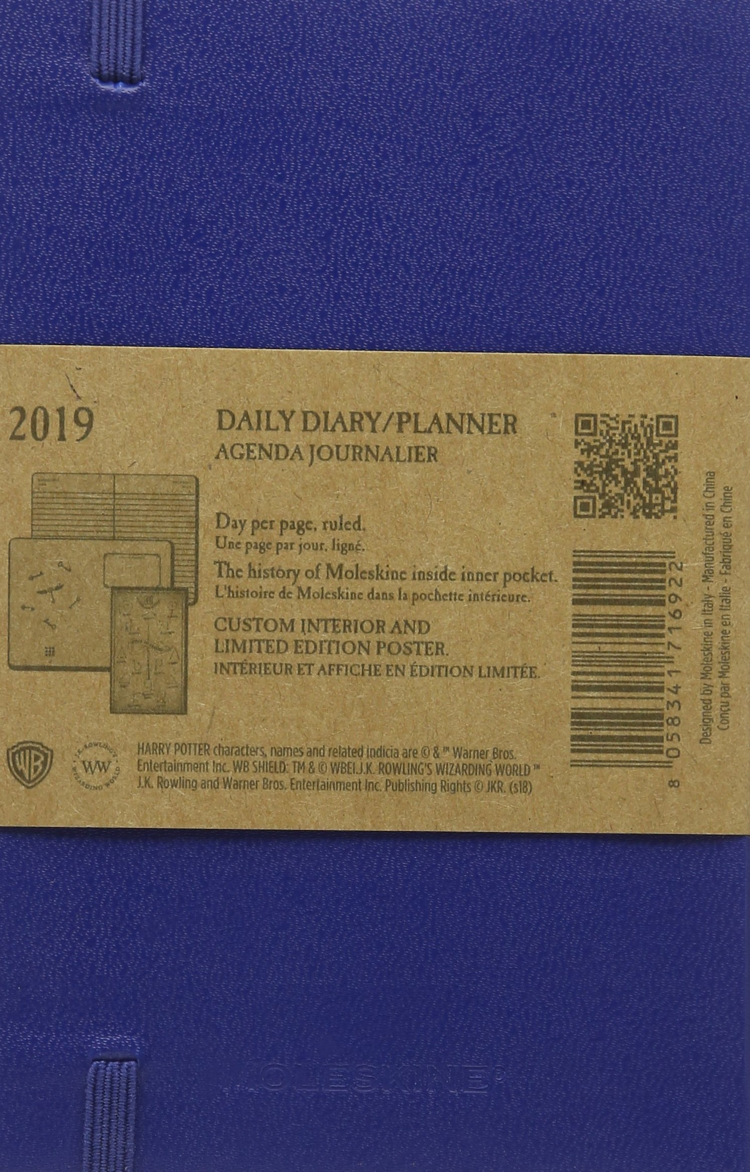 Moleskine 2019 12m Harry Potter Daily, Pocket, Daily, Blue ...