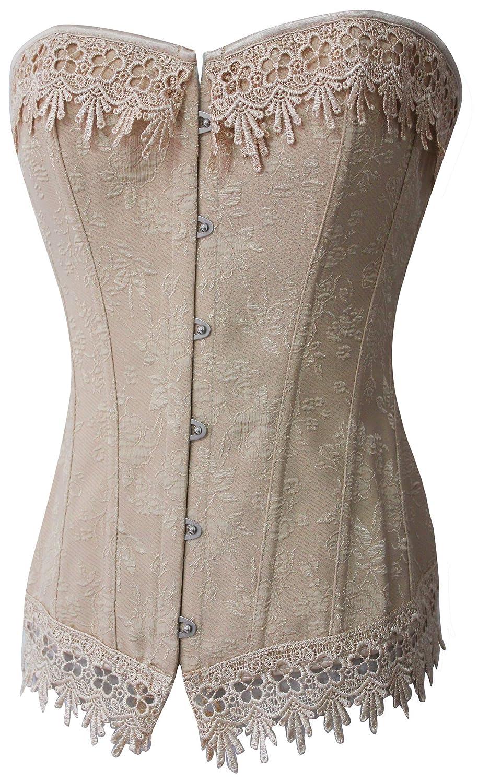 Victorian Corsets – Old Fashioned Corsets & Patterns Alivila.Y Fashion Womens Sexy Vintage 1920s Renaissance Lace Trim Corset Bustier $25.99 AT vintagedancer.com