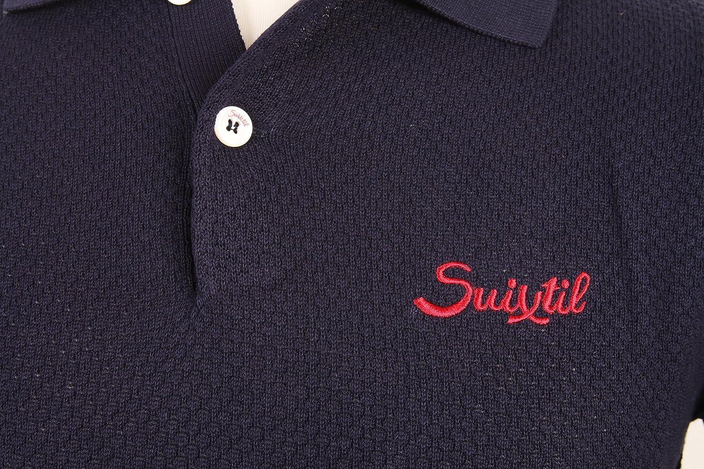 Suixtil Mens 100/% Pima Cotton Nassau Short Sleeve Polo