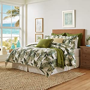 Tommy Bahama Fiesta Palms Comforter Set, Queen, Green