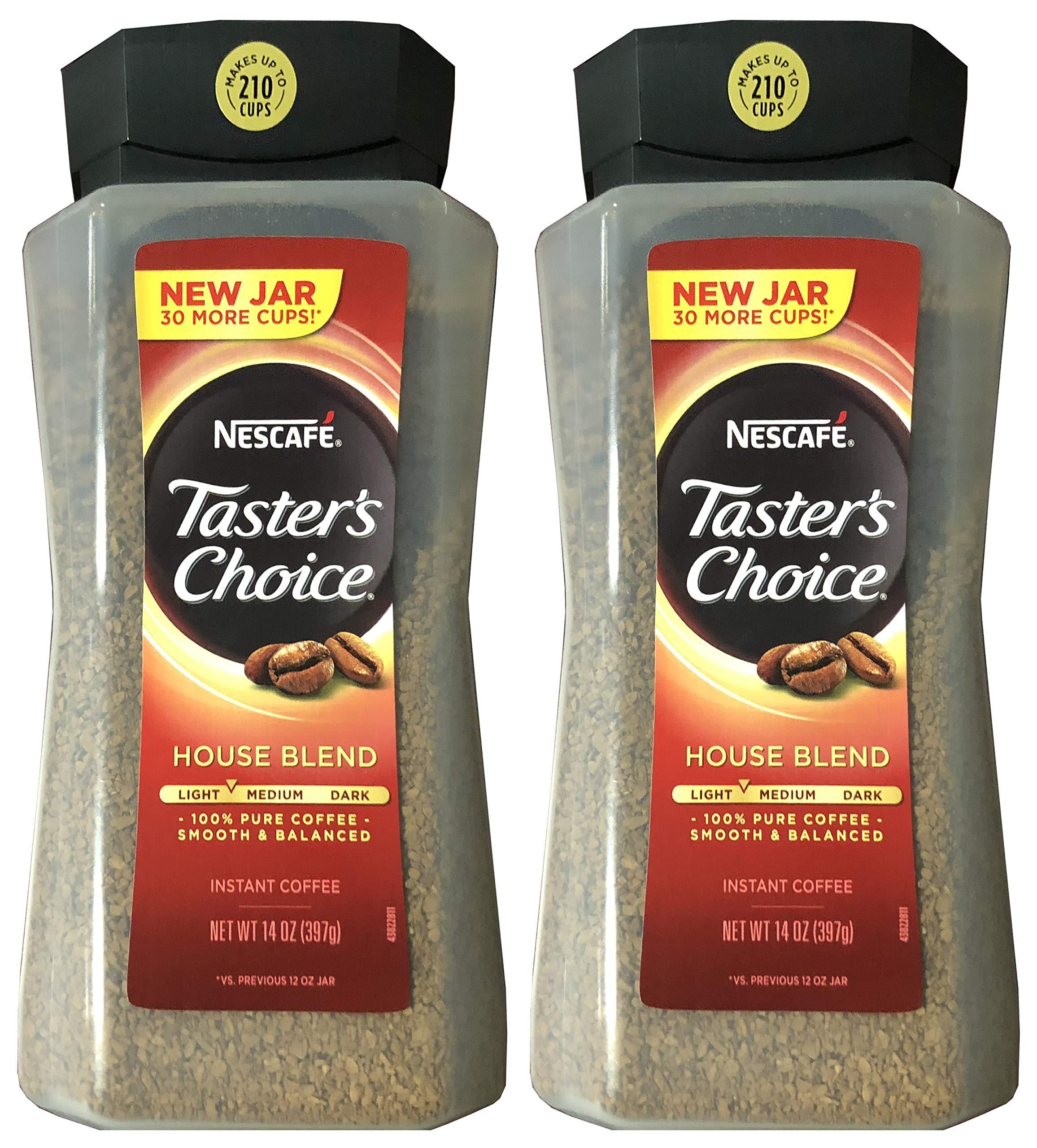 Taster's Choice Original Gourmet Instant Coffee 14 Oz, Pack of 2