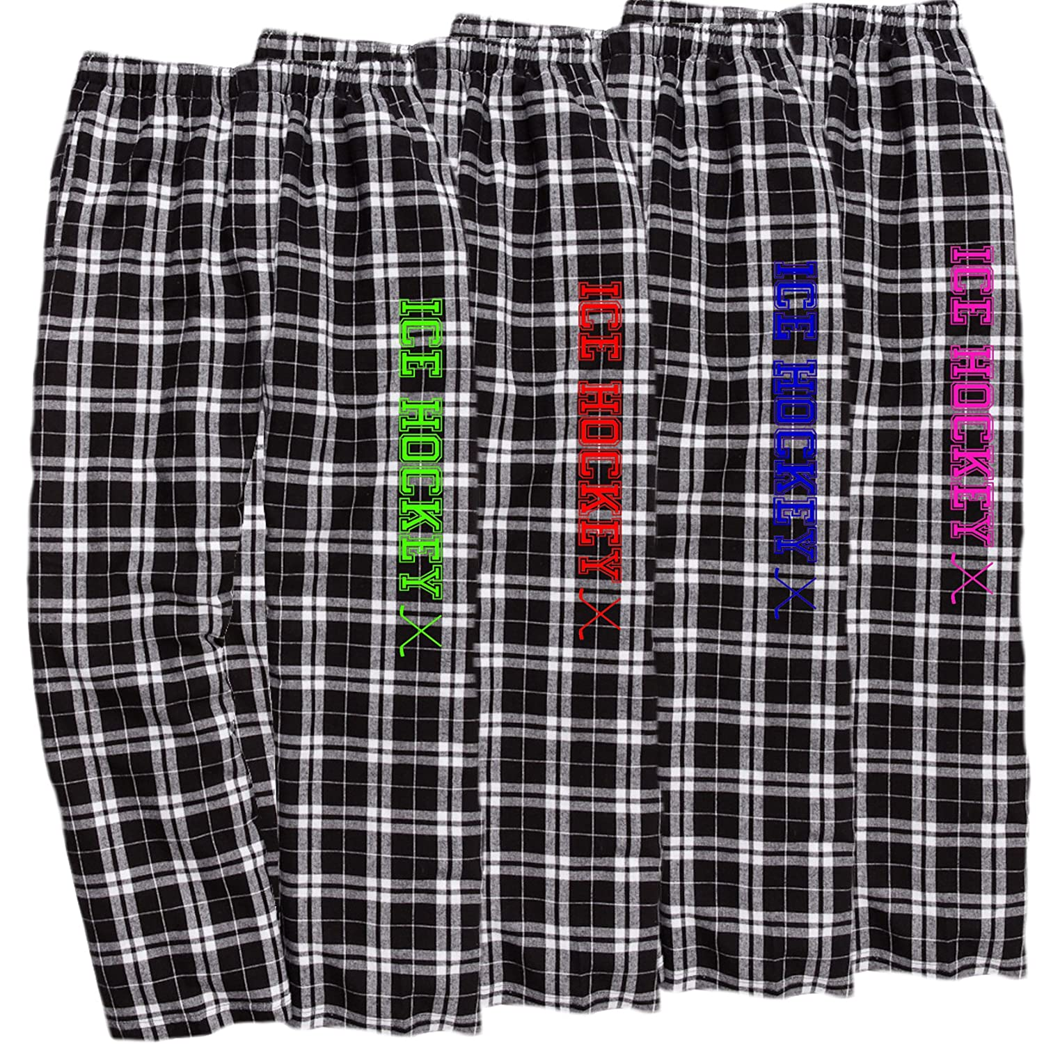 JANT girl Ice Hockey Black White Lounge Flannel Pant with Pockets