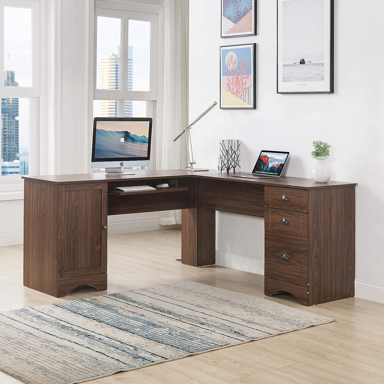 Amazon.com: 45 x 45 inches Large L-Shaped Desk Computer Desk L
