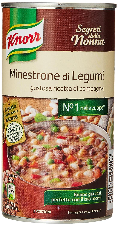 Knorr - Minestrone di Legumi, Gustosa Ricetta di Campagna - 500 g ...