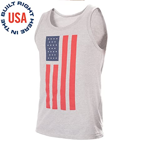 5b3f50908b7ca4 Epivive Patriotic American Flag Tank Top Shirt: Red, White and Gray Graphic  Tanks for