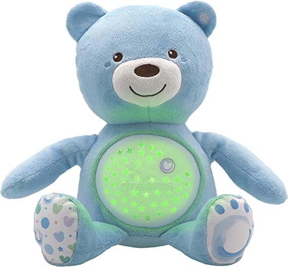 Chicco Ourson Projecteur Baby Bear 3 effets lumineux Peluche Musicale - Bleu