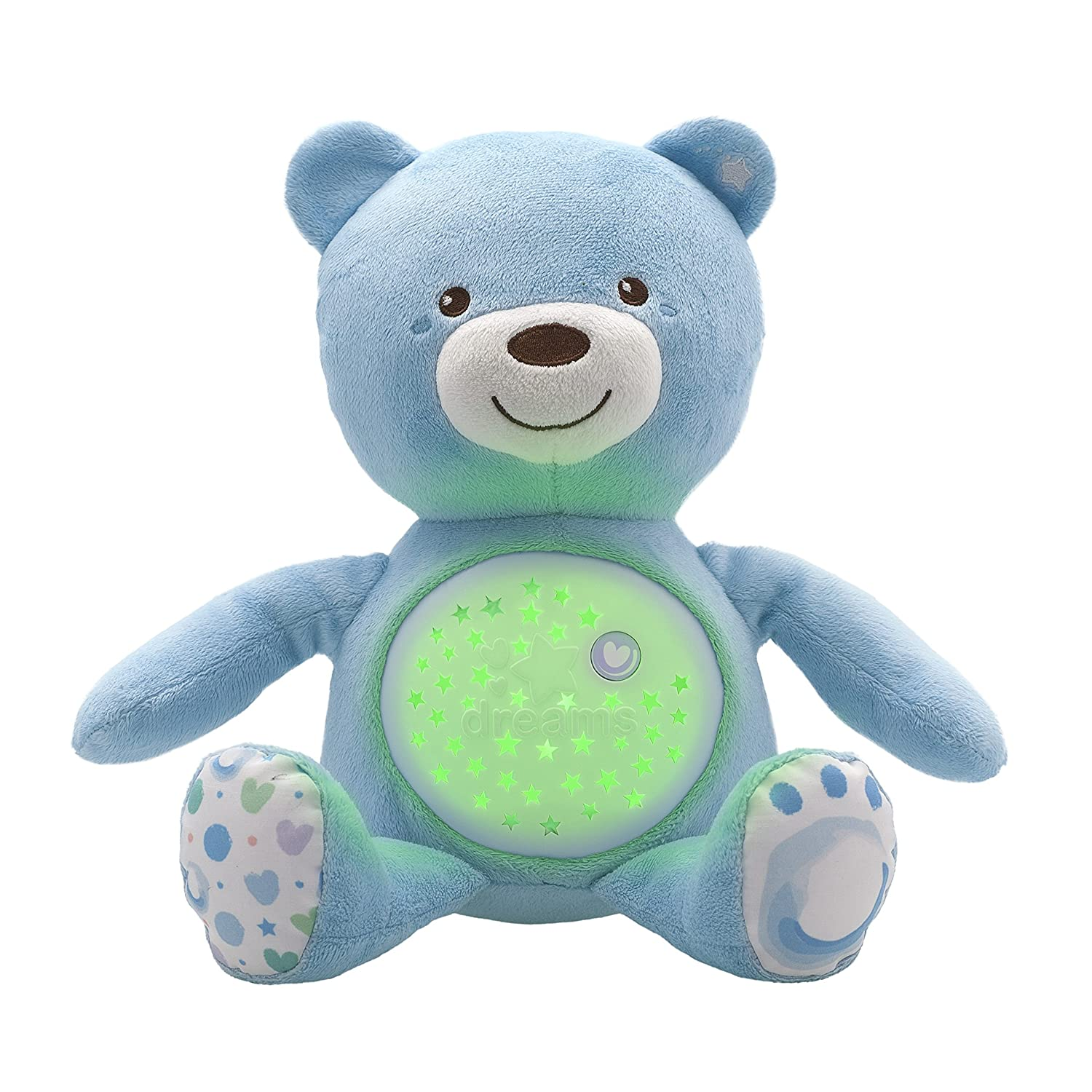 Chicco First Dreams Baby Bear Blue Musical Night Light Plush Teddy Toy Artsana UK Ltd 8015200000