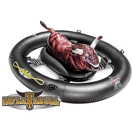 INTEX inflat-a-Bull, Inflable Ride-on Piscina de Juguete con la impresión Realista 2,39 m x 1,96 m x 81 cm: Amazon.es: Juguetes y juegos