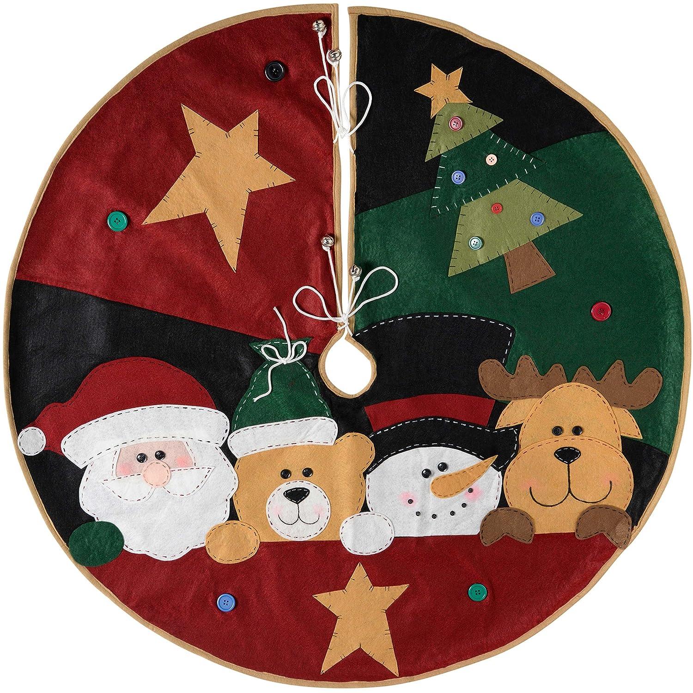 WeRChristmas–Decorazione Gonna Albero di Natale Personaggio, Tessuto,, 100cm, Grande WRC-7519