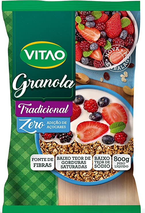 Granola Tradicional Zero Vitao 800G por Vitao