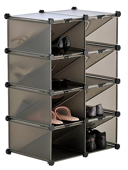 Interlocking Shoe Rack Storage Rack System Stores Upto 16 Pairs