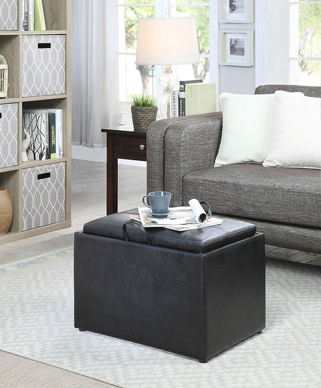 Convenience Concepts 143523BL Designs4Comfort Storage Ottoman Black