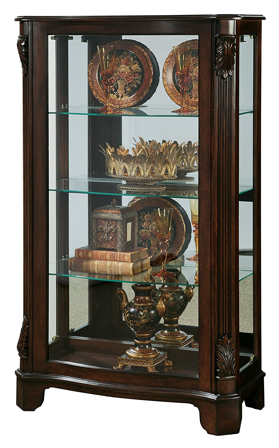 Amazon.com: Pulaski Mantel Curio, 33 by 15 by 56-Inch, Brown ...