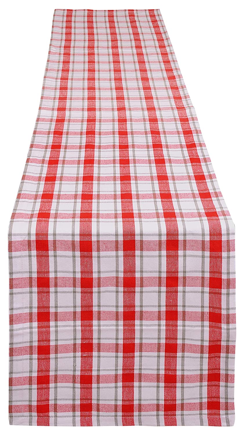 Yourtablecloth Buffalo Plaid Checkered Table Runner Trendy ...
