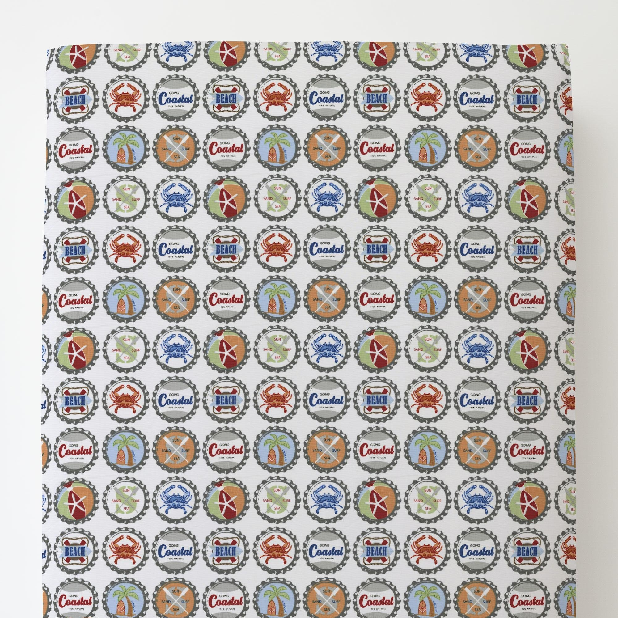Carousel Designs Bottle Caps Toddler Bed Sheet Fitted