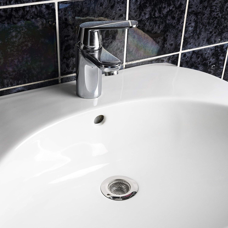 malla fina 4 piezas de coladores de metal colador de lavabo filtro de pico colador de drenaje de acero inoxidable Kitchen Helpis /® Juego de 4 coladores de drenaje colador de trampa de pelo