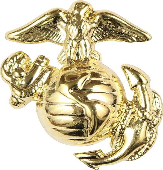 US Marine Corps 1/2u0026quot; Eagle Globe And Anchor Right Facing Lapel Pin