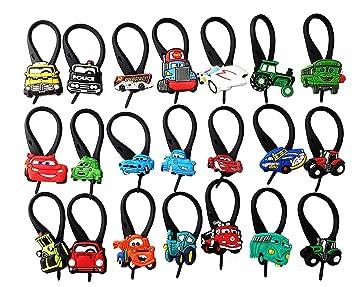 Hermes AVIRGO 21 piezas Cars Soft Zipper Pull Cremalleras Adornos para Cazadoras Bolsas Cremalleras Set # 26 - 3: Amazon.es: Juguetes y juegos