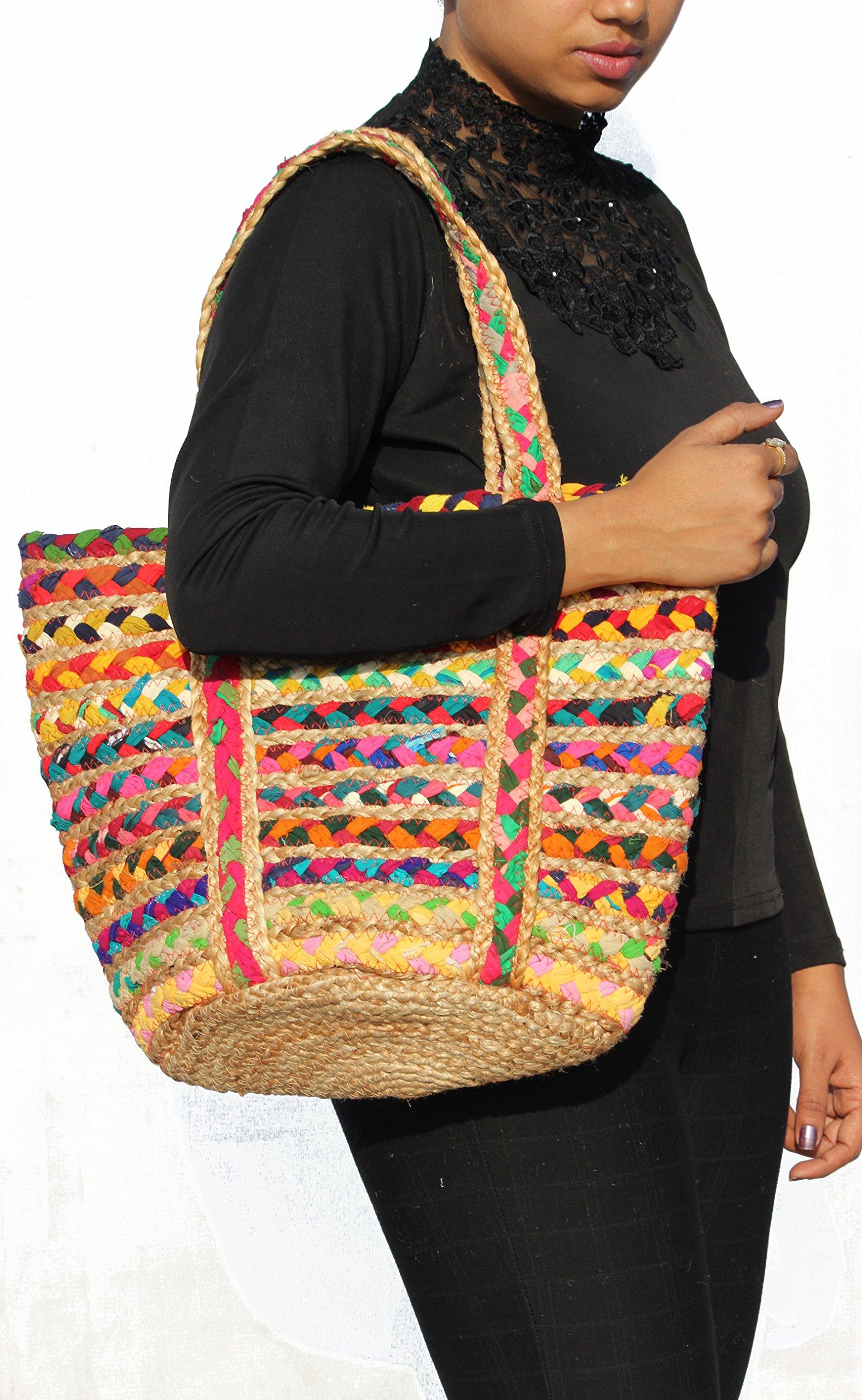 ffe1b315a04d9a TRIBESMANGOLD--Boho Crossbody Shoulder Hemp Tote Bag Bohemian Shopping  Beach Leisure Handbag Tribal Pattern