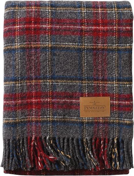 Ivory Pendleton Vintage Dress Stewart Plaid Coverlet Full//Queen