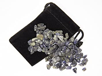 Fundamental Rockhound Products: 100 carat XS Iolite Tumbled Crystals  Gemstones Stones Rocks Metaphysical Healing Wholesale Lot 20g from India