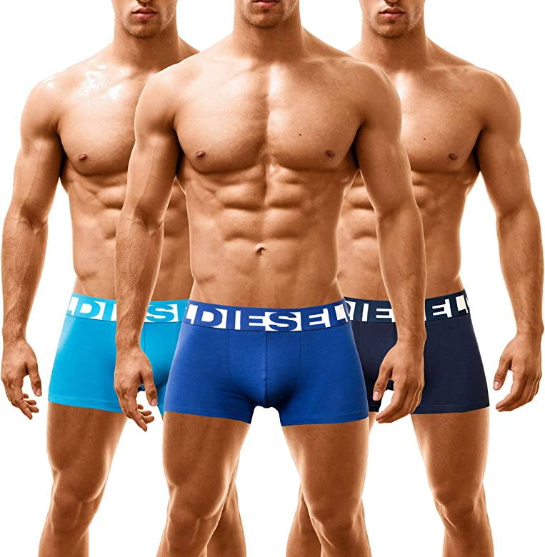 Diesel Boxer Hombre Shawn 3 Pack (Small, BANDANA-BLUE): Amazon.es ...