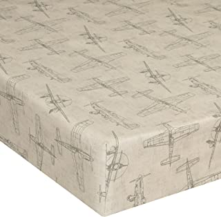 product image for Glenna Jean Crib Fitted Sheet, Airplanes, Beige/Cream, Mini