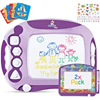CHUCHIK Magnetic Drawing Board for Kids and Toddlers. Large 15.7 Inch Doodle Writing Pad Comes with a 4-Color Travel…