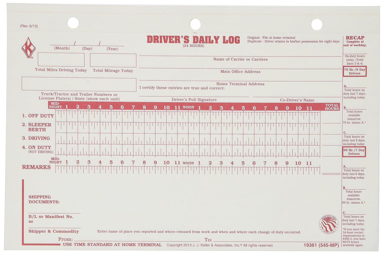 truck drivers log book template