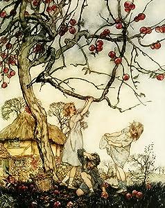 Iconic Arts Vintage Apple Tree Artwork Painting Laminated Poster 24x36