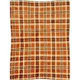 Morgan Home Fall Autumn Orange Plaid Throw Blanket, 50-inch X 60-inch