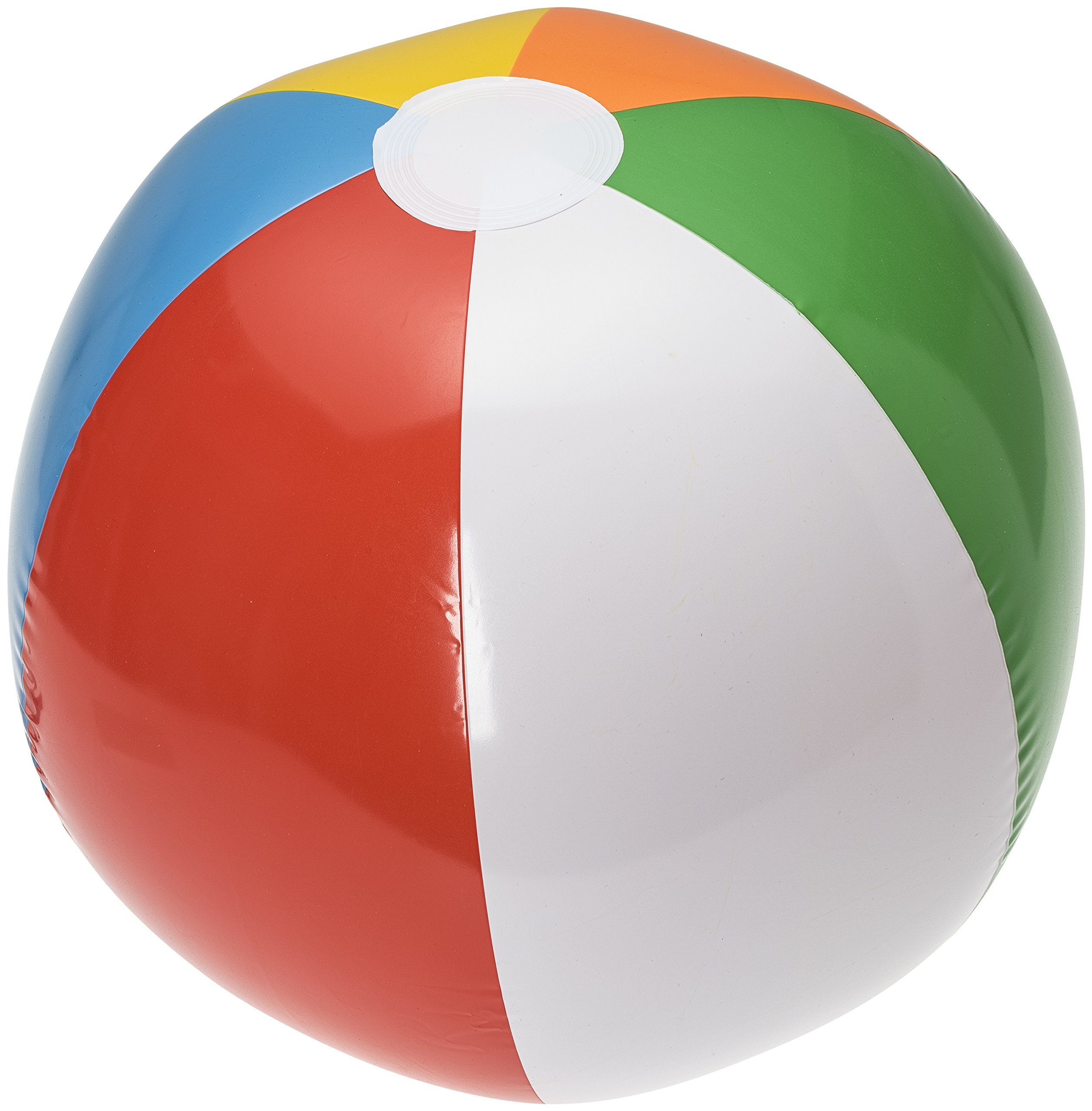 NJ Novelty 20'' Large Inflatable Beach Balls 1 Dozen Rainbow Colored for Pool Party/Summer Water Fun and Birthday Parties