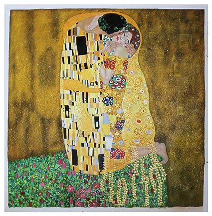 Swell Amazon Com The Kiss Gustav Klimt Hand Painted Oil Download Free Architecture Designs Pendunizatbritishbridgeorg