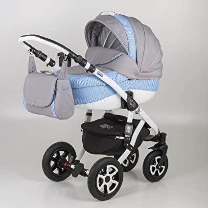 Cochecito para bebé 3 en 1. Silla + Capazo + Grupo 0. Mundi Bebé