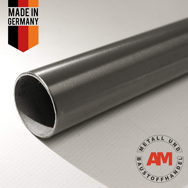 Edelstahl Rundrohr /Ø 33,7mm K240 geschliffen Gel/änderrohr Rohr V2A 100mm Lang