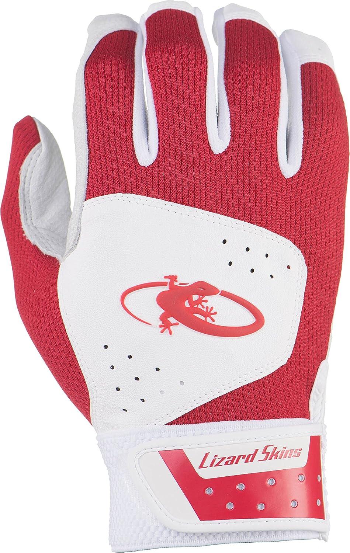 リザードスキンズ 両手組 バッティング手袋 KOMODO ベーシック 正規輸入品 B01FE8XE8M X-Large White/Crimson White/Crimson X-Large