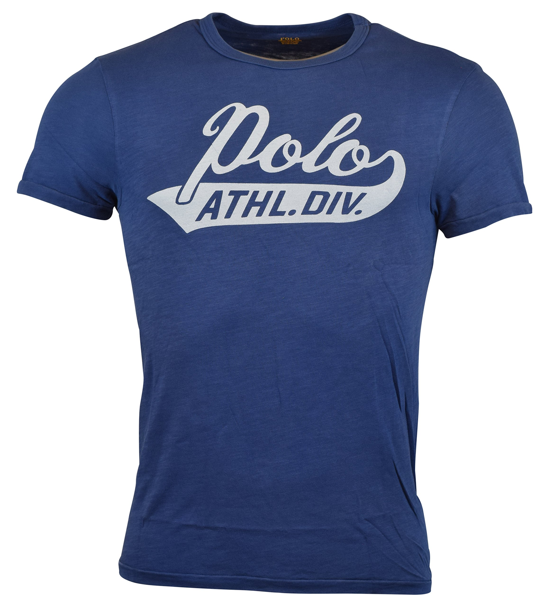 76db1c00c Galleon - Polo Ralph Lauren Mens Custom Fit Graphic Logo T-Shirt - M - Bali  Blue
