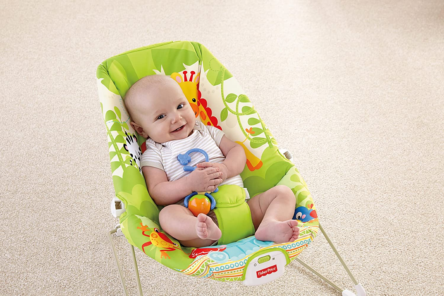 Baby rocker chair fisher price - Amazon Com Fisher Price Baby Bouncer Rainforest Friends Discontinued By Manufacturer Infant Bouncers And Rockers Baby
