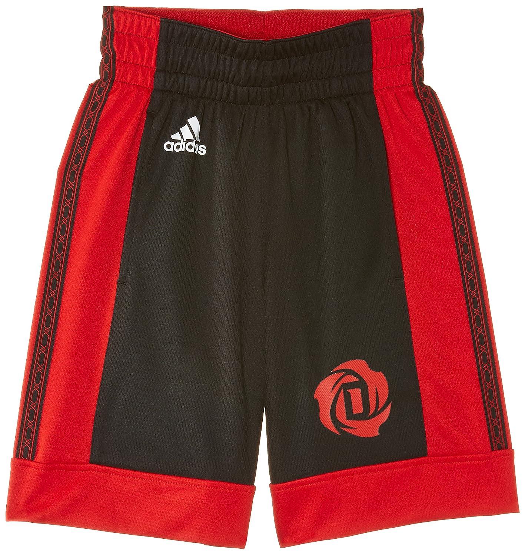 adidas Rose - Pantalones cortos de baloncesto para niño, color negro, talla 140 G92273 M32805_NOIR/ROSE-140