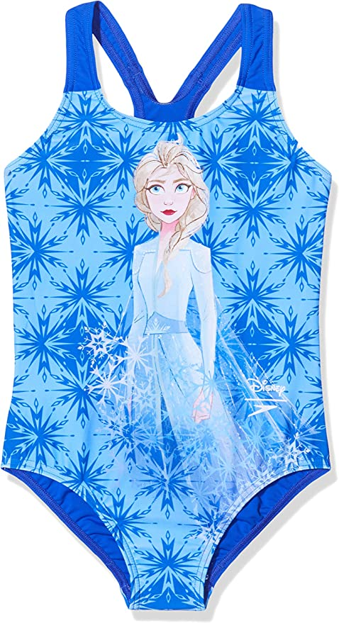 "Speedo Girl/'s Disney Frozen 2 /""Elsa/"" Digital Placement Splashback Swimsuit"