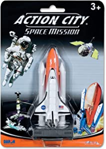 NASA Space Shuttle on Launch Pad with Full Stack Tanks 1:500 Scale Enterprise