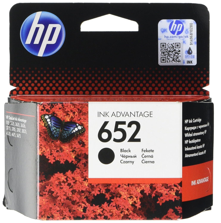 HP 652 Cartucho de tinta para impresoras (Negro, HP, -40-60 °C, HP DeskJet Ink Advantage 1115 Printer (F5S21C) + 652 cartucho de tinta Original Negro, ...