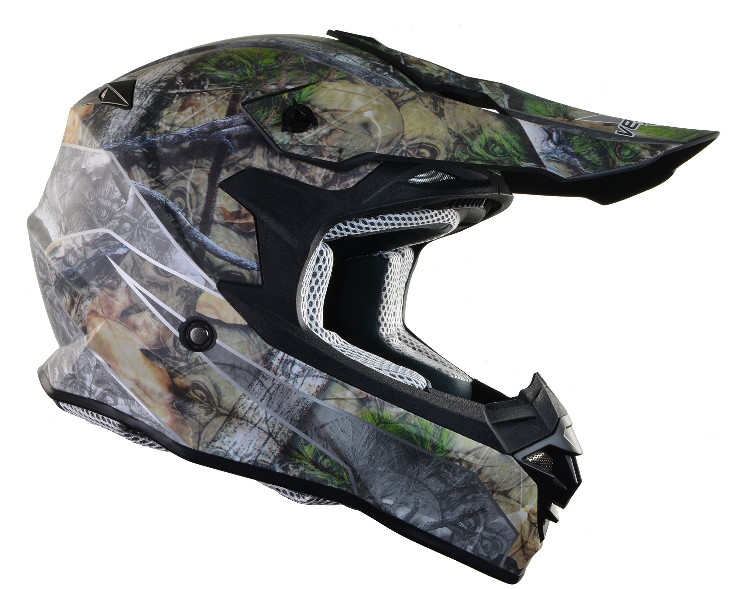 Vega Helmets VF1 Lightweight Dirt Bike Helmet – Off-Road Full Face Helmet for ATV Motocross MX Enduro Quad Sport, 5 Year Warranty (Skull Camo Graphic Large Unisex Adult)
