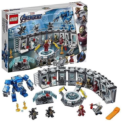 LEGO Super Heroes Iron Man Sala de Armaduras Juguete de Construcción de la Colección de Trajes de Combate de Tony Stark 76125