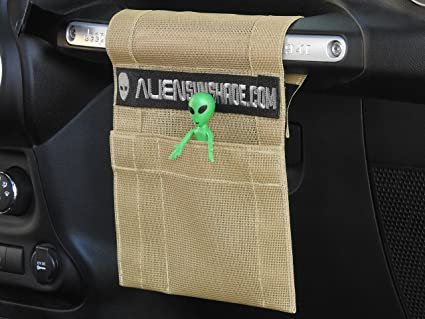 ALIEN SUNSHADE Jeep Wrangler TrailPouch Multi-Purpose Mesh Storage Pouch Organizer with 10 Year Warranty Green