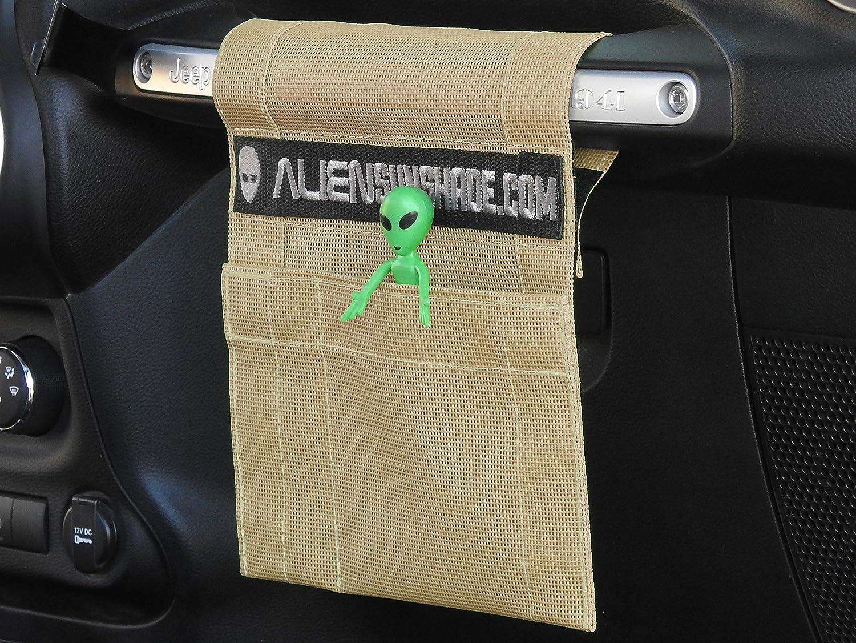 ALIEN SUNSHADE Jeep Wrangler TrailPouch Multi-Purpose Mesh Storage Pouch Organizer with 10 Year Warranty - Original Black