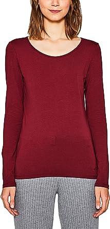 edc by Esprit 087cc1k055 Camisa Manga Larga, Rojo (Bordeaux Red 600), XX-Large para Mujer: Amazon.es: Ropa y accesorios