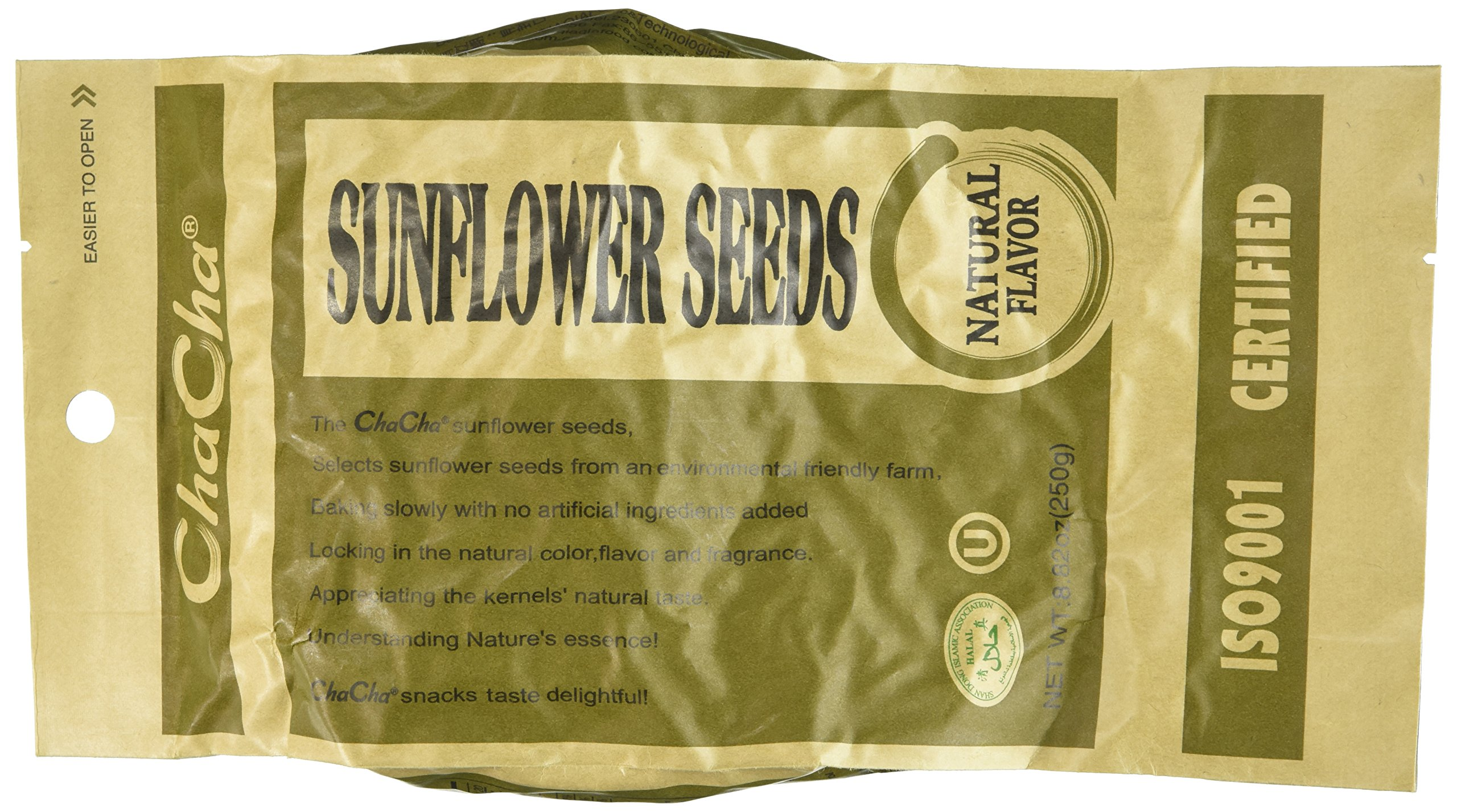 Chacha Sunflower Roasted and Salted Seeds (All Nature) 250g X 18bags by NineChef
