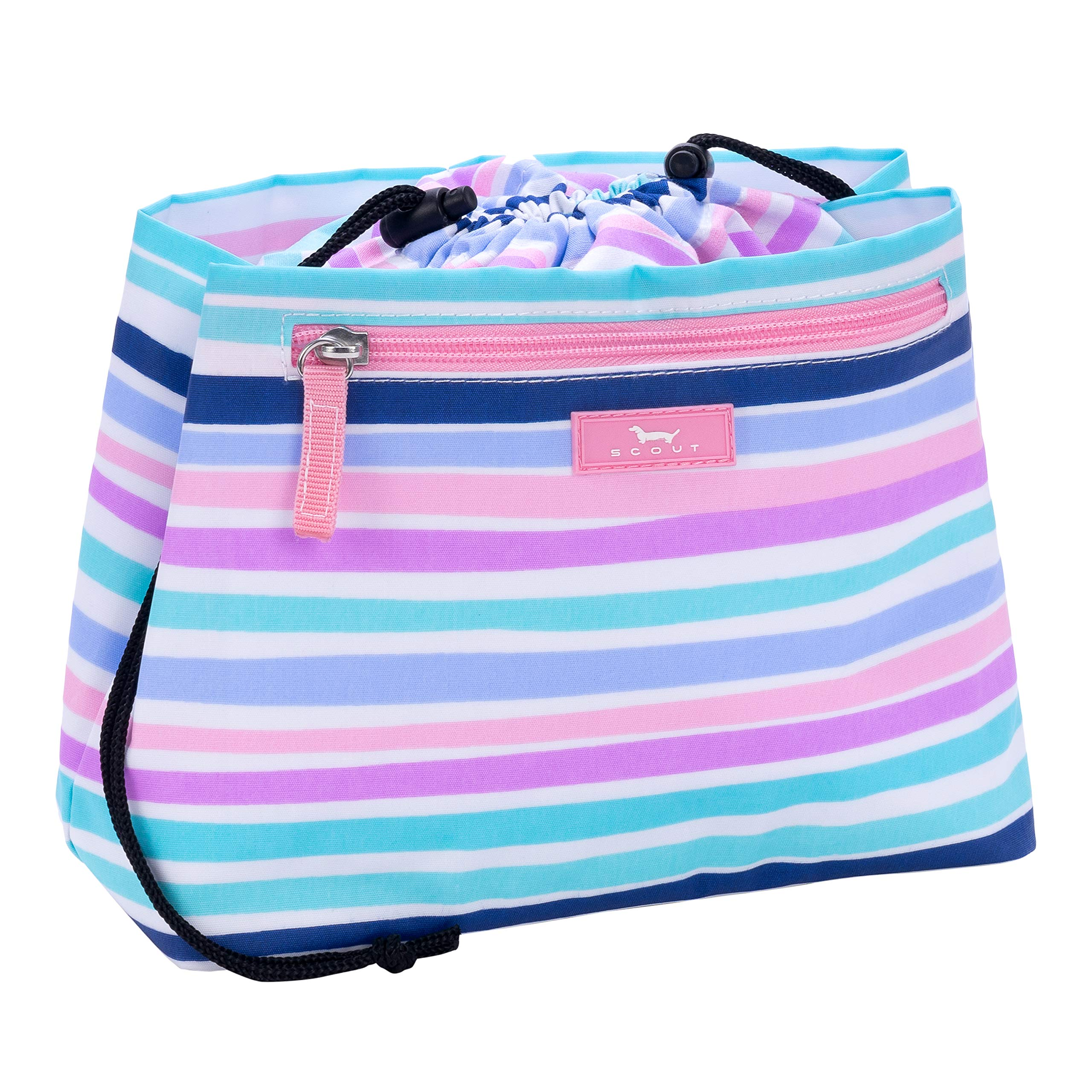 SCOUT Glam Squad Makeup & Cosmetic Bag, Cinch-Top Closure, 4 Open Pockets, Water Resistant, Big Little Lines