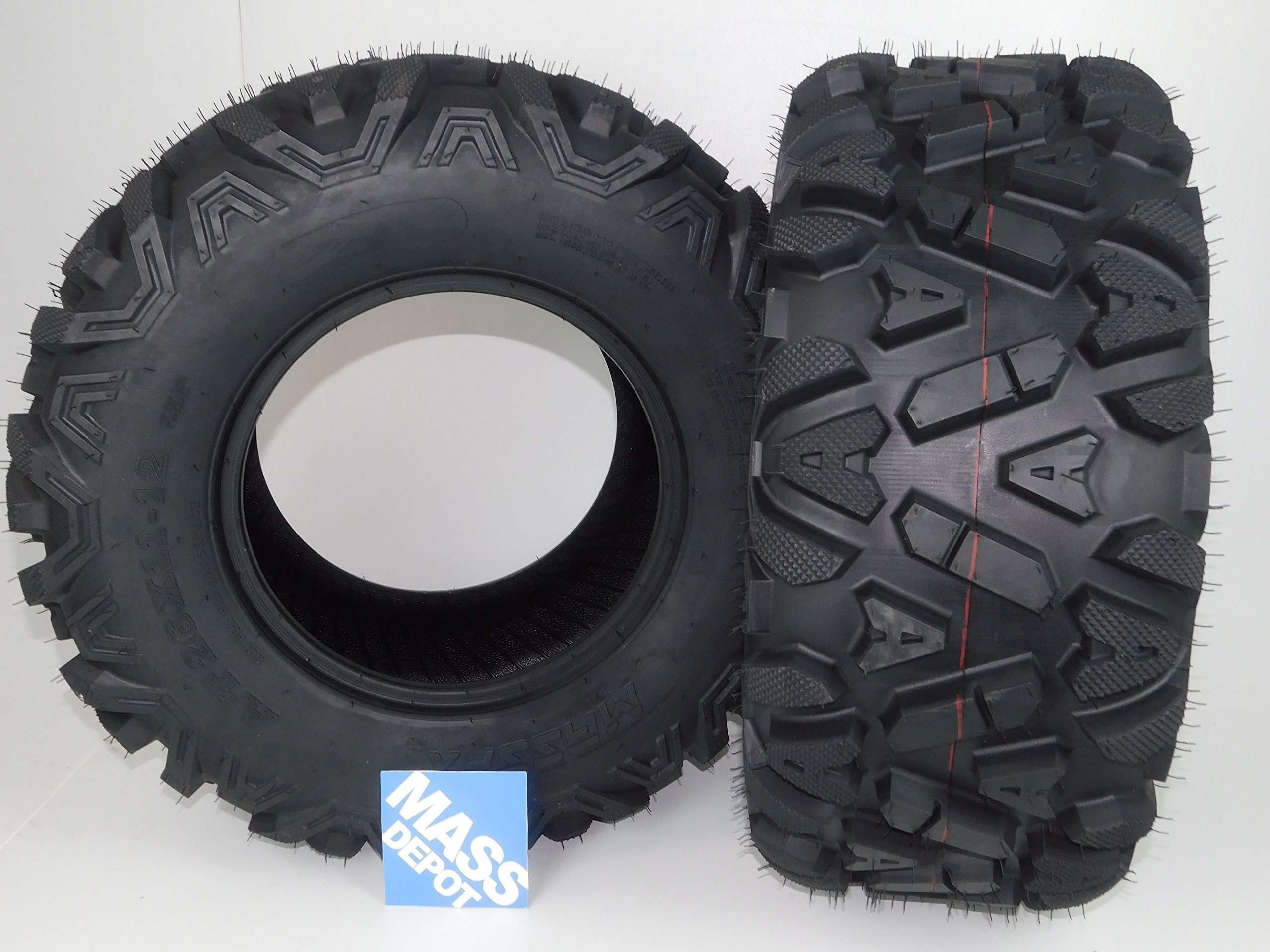 Two 26x11-12 KT MASSFX big TIRE SET two ATV TIRES SIX PLY 26'' horn